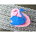 Swan Shaped Pecite fandant kalup, L6cm * W5.5cm * H1.5cm