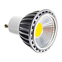 5W GU10 LEDスポットライト COB 50-400 lm 温白色 明るさ調整 交流220から240 V