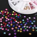 Hřebík 600pcs 12colours květ akrylové kamínky kolo umění dekorace
