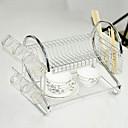 半透明なプラスチックトレイを備えたキッチンダブルレイヤーディッシュラック