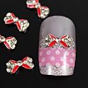 10pcs crvena prijelaz bižuterija kravata DIY legure nail art ukras