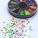 500pcs mješavina boja bombona ab akrilna bižuterija kotača nail art ukras