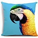Vivid Parrot Painting Cotton/Linen Decorative Pillow Cover