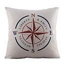 nautička kompas pamuka / lana dekorativni jastuk pokriti