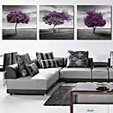 rastegnuti platnu print umjetnosti krajolika ljubičasta stabala set od 3