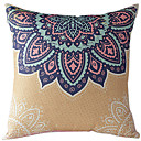 Traditional Floral Cotton/Linen Decorative Pillow Cover