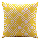 žuti dijamant pamuka / lana dekorativni jastuk pokriti