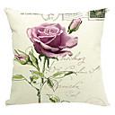 Country Rose bavlna / len dekorativní polštář