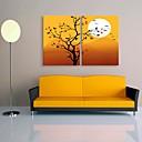 Reprodukce na plátně umění krásný západ slunce dekorace sadu 2