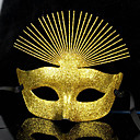 Maska cosplay Festival/Svátek Halloweenské kostýmy Zlatá Jednobarevné Maska Halloween / Karneval / Nový rok Unisex PVC