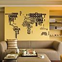 zidne naljepnice zidne naljepnice, engleski karti svijeta PVC zidne naljepnice