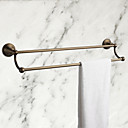 Antique Brass 21 Inch  Double Towel Bar, Bathroom Accessory