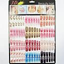 500 přírodní barva poloviny falešné akrylové tipy nail art (50pcsx10 velikosti smíšené)