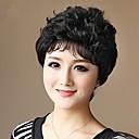 krátké vlnité celoskleněná 100% lidské vlasy, paruky