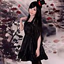 Inspirirana K-ON Mio Akiyama Anime Cosplay nošnje Cosplay Suits / Dresses Jednobojni Crna Bez rukava Haljina / Šešir