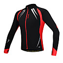 Santic Men's Cycling Jacket/Cycling Jersey Long Sleeve Warm Fleece Windproof Cycling Jacket Spandex+Fleece C01023R