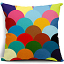 Šaren polu-krug pamuk / lan dekorativni jastuk pokriti