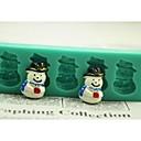 Vánoční sněhulák dárek fondant dort čokoládový Silikonová forma dort dekorace nástroje, l12 * W4 * h1.3cm