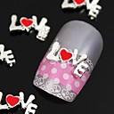 10pcs 3d legure ljubavno pismo karakter nail art ukras