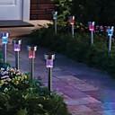 Paket od 8. mijenja boju solarni pogon dovela punjivu nehrđajućeg čelika vrt travnjak svjetlo