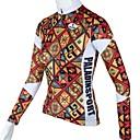 PALADIN® Cyklodres Dámské Dlouhé rukávy Jezdit na kole Prodyšné / Rychleschnoucí Dres / Vrchní část oděvu 100% polyester KvětinyJaro /