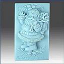 Vánoce Santa Claus fondant dort čokoládový Silikonová forma dort dekorace nástroje, l8.6cm * w5.6cm * h3.3cm