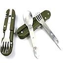 venkovní 8in1 nerez multifunkční jídelní nůž vidlička lžíce camping nástroj