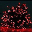 17メートルソーラークリスマスライトの文字列ランプlndoor屋外点滅のライトストリップを100が主導 - 赤