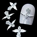 10pcs srebrna krila mač 3d legure bižuterija nail art ukras