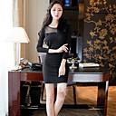 jeden xuan® dámská A / W korejsky sexy dlouhým rukávem v-neck slim balíčku hýždě duté-out oblečení
