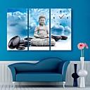 e-HOME® buddha a kameny hodiny v plátěných 3ks