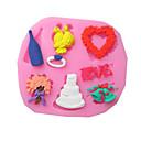 Srce cvijet prsten za pecivo Fondant kolač choclate slatkiša kalup, l8.4cm * w7.5cm * h0.8cm