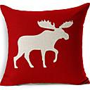 bež jelena crveno pamuk / lan dekorativne jastučnicu