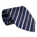 tmavě modrá&světle modrá proužkovaná kravata