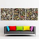 E-home® pruži platnu si apstraktne uzorke fantasy ukras slikarstva skup od 3