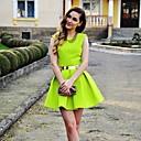 dámská neon roztomilý skater sukně šaty