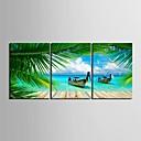 e-HOME® letní coastl hodiny v plátěných 3ks