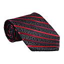 černá&red striped tie