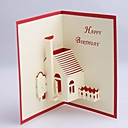 サイド折り 結婚式の招待状1 ピース/セット カード用紙