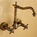 キッチン蛇口 現代風 プレリンス 真鍮 アンティークブロンズ