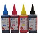 bloom®染料インク100ミリリットルキヤノン用互換詰め替えインク、すべてのインクジェットプリンタ(4色1ロット)