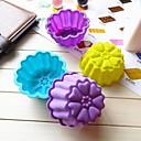 菊形状ケーキ型アイスゼリーチョコレートモールド、シリコーン9.5×7×4.5センチメートル(3.7×2.8×1.8インチ)