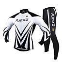 FJQXZ® Biciklistička majica s tajicama Muškarci Dugi rukav Bicikl Prozračnost / Quick dry / Ultraviolet Resistant / Pad 3DBiciklizam