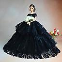 Party/Večírek Šaty Pro Barbie Doll Czarny Šaty Pro Dívka je Doll Toy