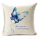 lijepa plava leptir uzorak pamuka / lana dekorativne jastučnicu