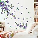 ウォールステッカーウォールステッカー、自然な紫色の梅の花PVCウォールステッカー