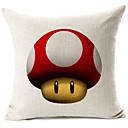 crvena gljiva glavu uzorak pamuka / lana dekorativne jastučnicu
