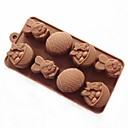 8穴ウサギイースターエッグシェイプケーキ型アイスゼリーチョコレートモールド