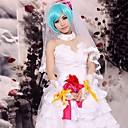 Inspirirana Vocaloid Hagane Miku Video igra Cosplay Kostimi Cosplay Suits / Dresses Čipka Bijela Bez rukavaHaljina / Headpiece / Kravata