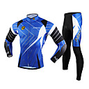FJQXZ® Biciklistička majica s tajicama Muškarci Dugi rukav Bicikl Prozračnost / Ugrijati / Quick dry / Ultraviolet ResistantKompleti